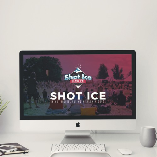 Power Point Template for Trendy Freezer POP - Ice Shot