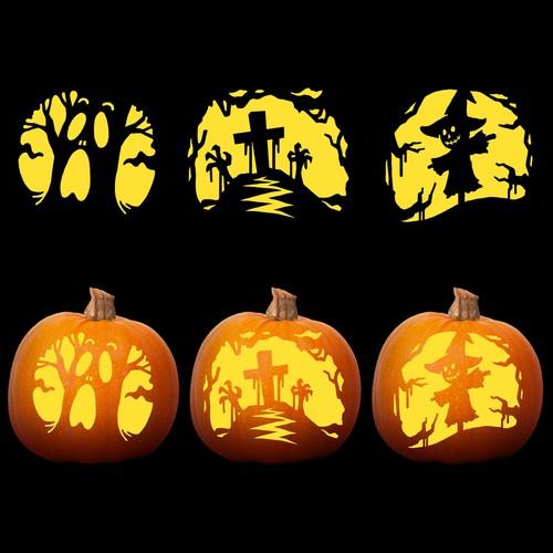 Carving Design for Hallowen Pumpkin