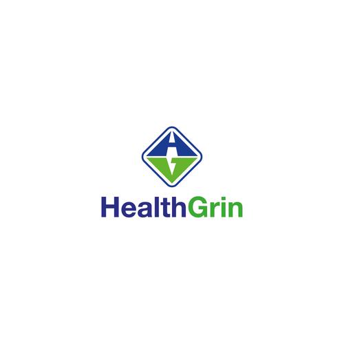 Bold Logo Concept for HealthGrin