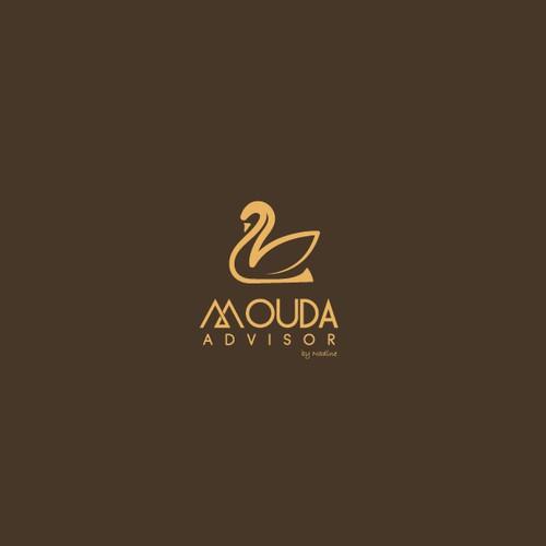 simple logo for mouda advisor