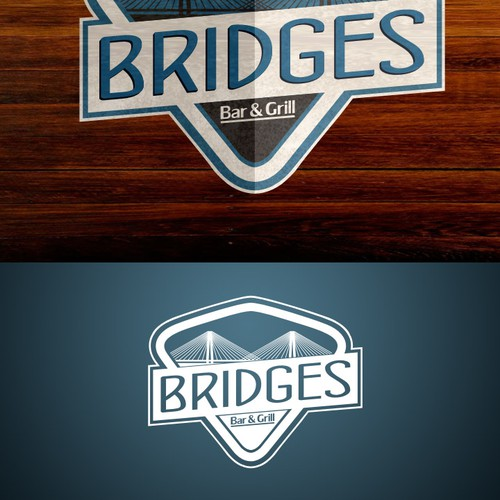 Create the next logo for Bridges Bar & Grill
