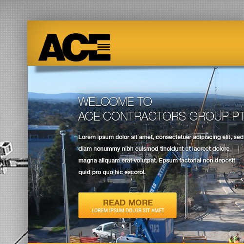 Help Ace Contractors Group Pty. Ltd. with a new website design