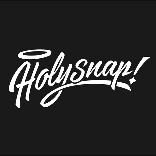 Create a snappy, retro-futuristic wordmark for iPhone photo app