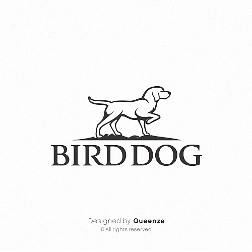 Dog logo design, simple, confident and strong.