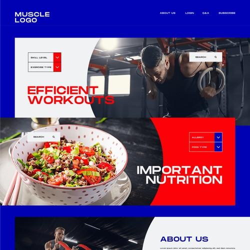 Training website home page design idea