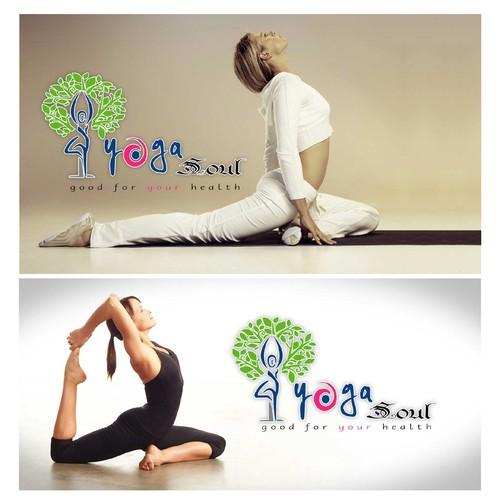 Yoga Soul Logo and website banner Designs.