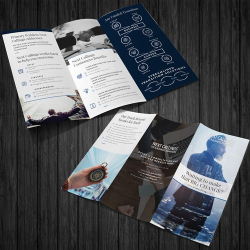 Design a catchy and informative brochure for Next Callings and help others achieve a bright future!