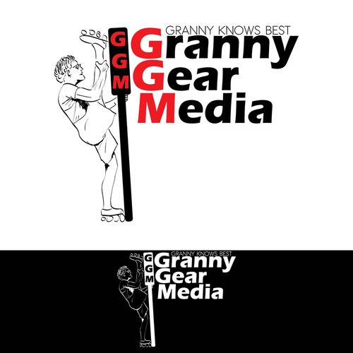 "Create a crazy granny logo for ""Granny Gear Media"""
