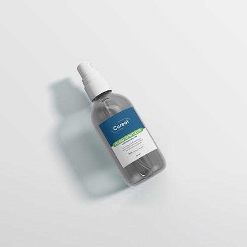 Hand Sanitizer Spray Label