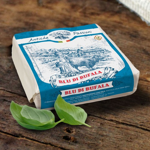 Packaging design for Italian Cheese