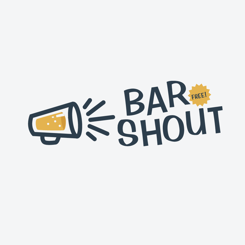 The Bar Shout app needs an exciting, loud logo for the banner at the top of its pages