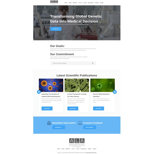 We need a beautiful unique web design for our referral lab company