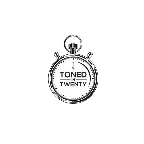"Fitness logo ""Toned in Twenty"""