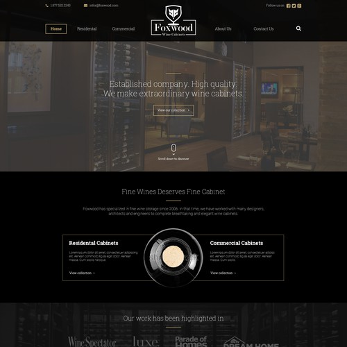 Website concept for Foxwood