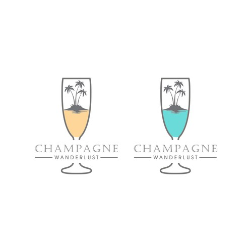 Create a logo for Champagne Wanderlust
