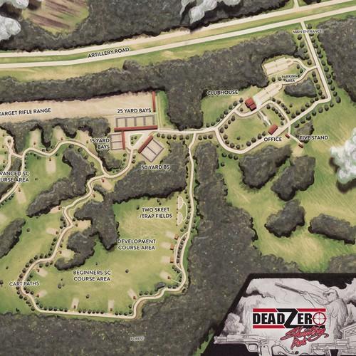 shooting park map illustration