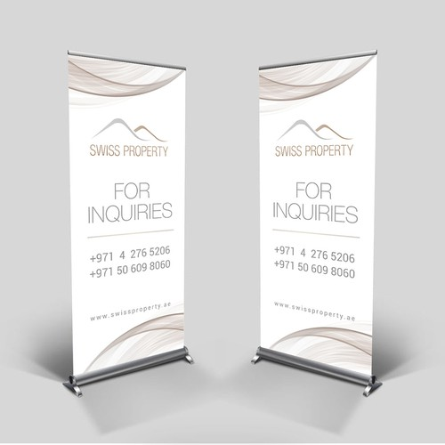 Modern and elegant banner for a Real Estate development company