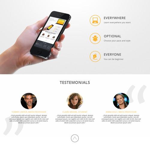 Create an innovative website for an innovative education company.