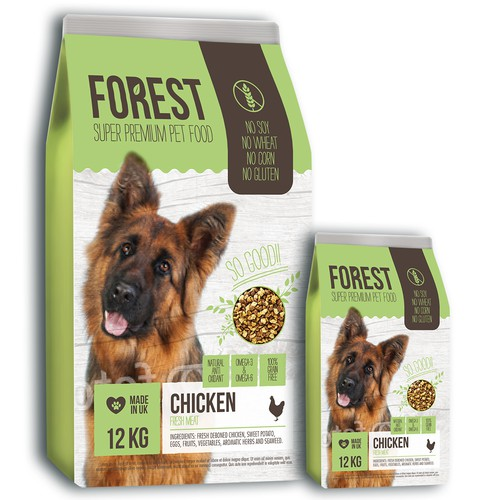 Clean and modern pack for super premium pet food