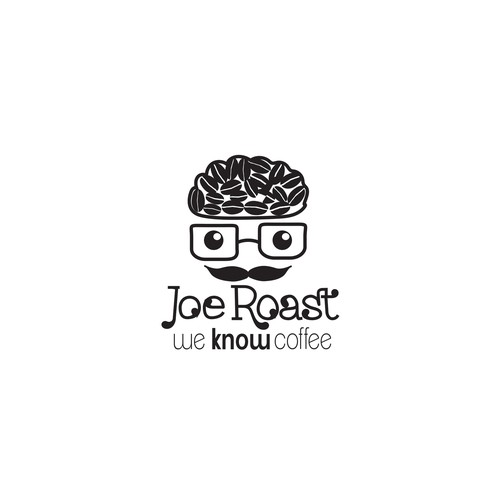 Hipster logo for Coffee Roasters.