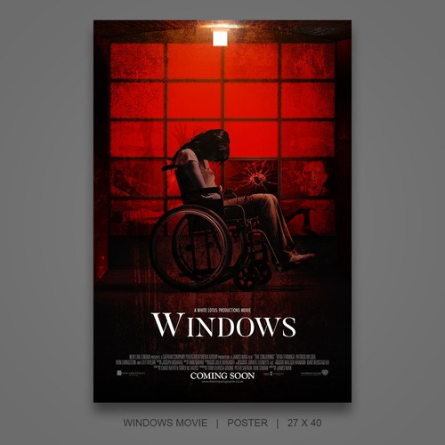 """Poster for horror/thriller """"Windows"""" by White Lotus Productions"""