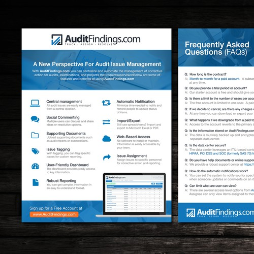 Create a Brochure/Flyer for AuditFindings.com