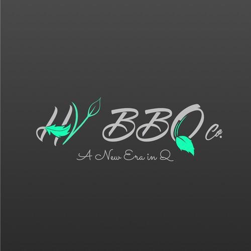Concept logo for Hudson Valley BBQ co.