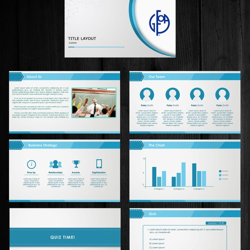 e-learning powerpoint template