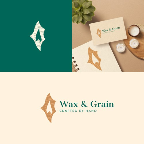 Logo concept for handmade candles and wood decorations