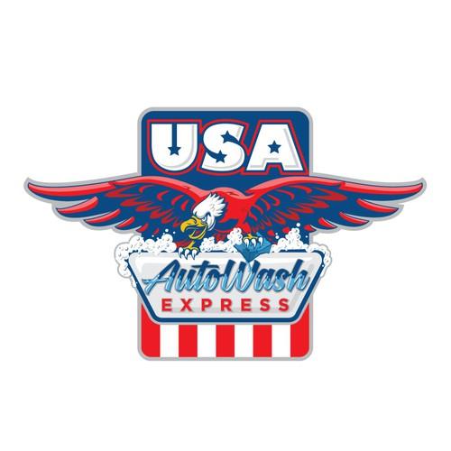 USA AutoWash express logo