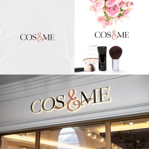 Logo for cosmetics, makeup retail stores
