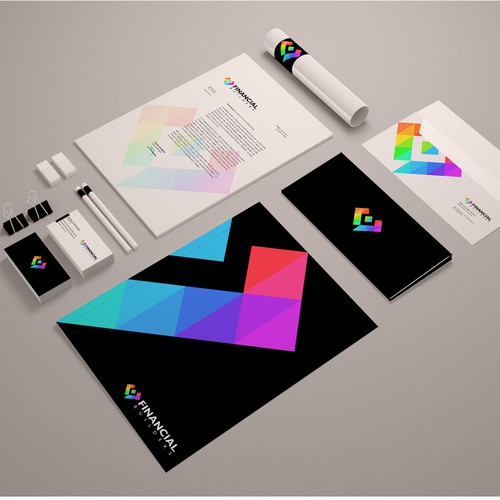 Create modern, colorful branding for a Financial Institution