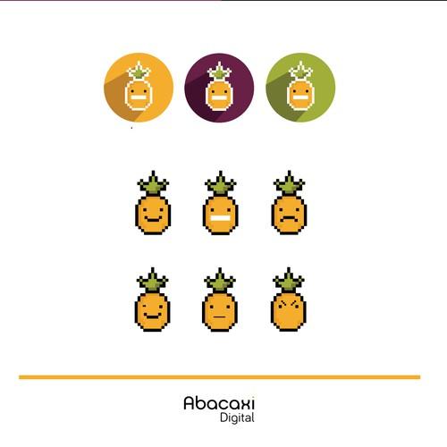 Pineapple mascot logo