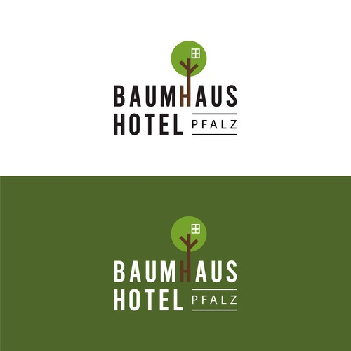 Logo for a treehoushotel in Germany