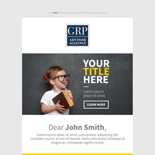 Email Template Proposal for GRP - Advisor Alliance