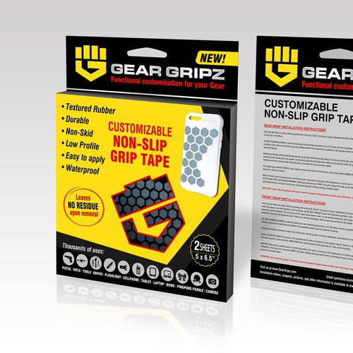Gear Gripz Retail packaging design