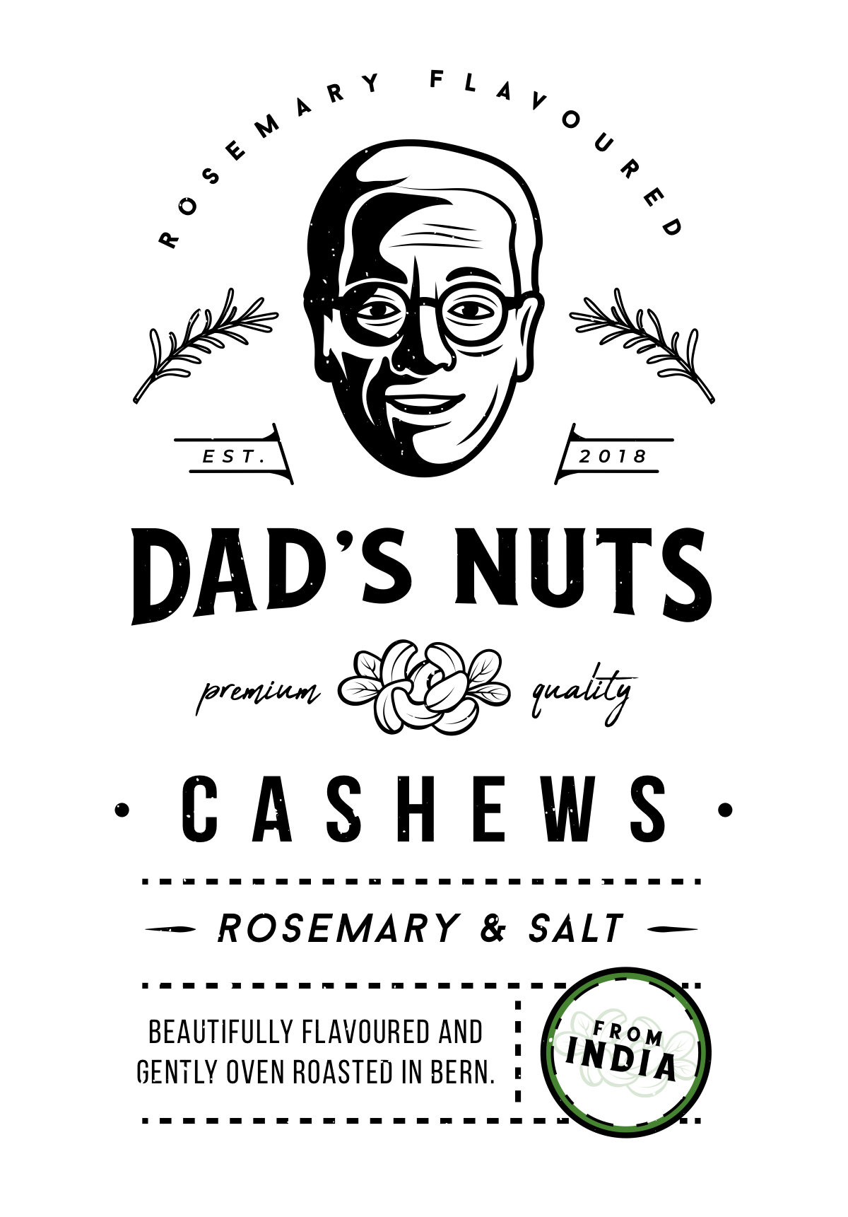 Dad's Nuts Packaging