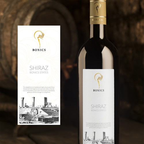Shiraz Wine Label