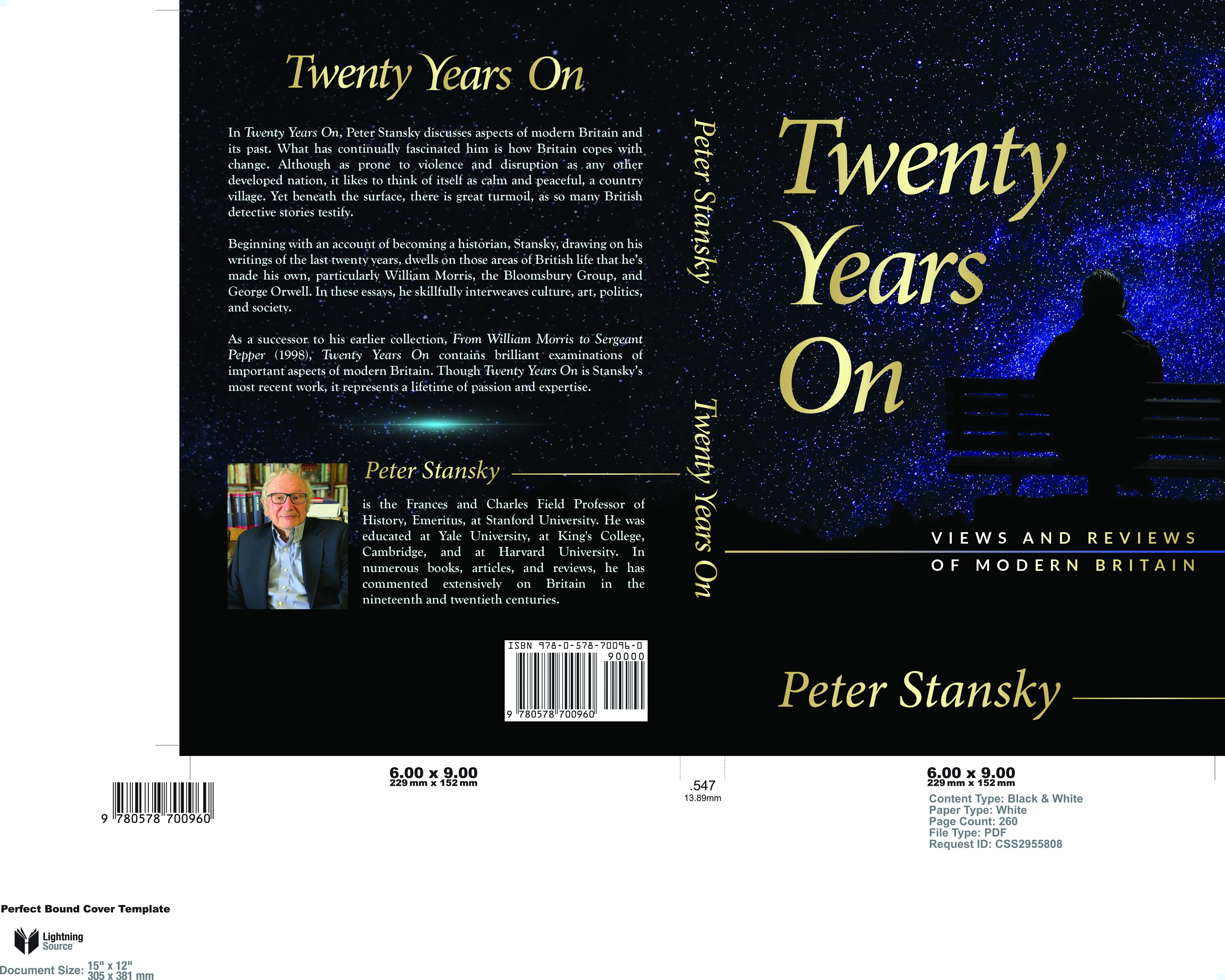 Simple nonfiction cover for retired Stanford professor