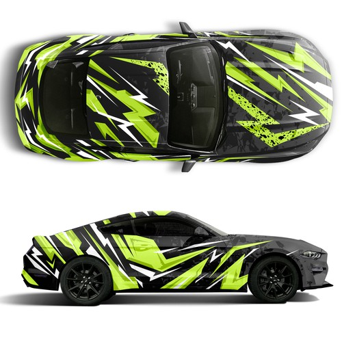 Wrap concept for Mustang