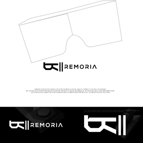 "Logo proposal for ""Remoria"" an Immersive VR experience"