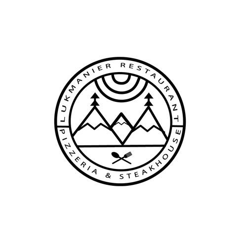 Logo Concept Lukmanier Restaurant pzzeria & steakhouse.
