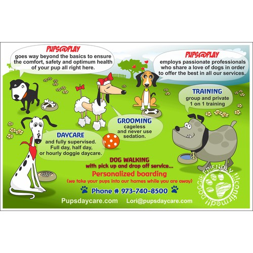 Pups@Play needs a new postcard or flyer