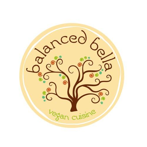 Whimsical logo for vegan cuisine
