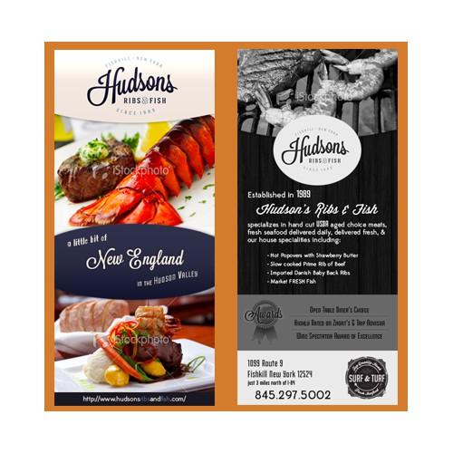 2 sided flyer for restaurant