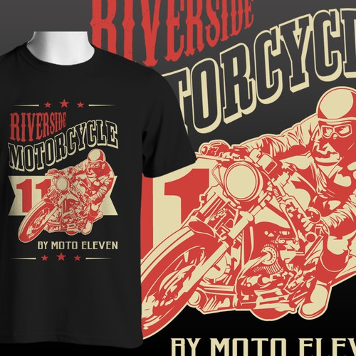 Create a Vintage-Look design for the Riverside Motorcycles Collection by moto eleven