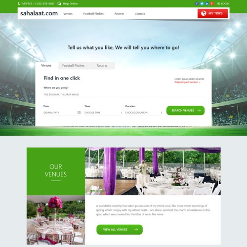 Website design for Sahalaat