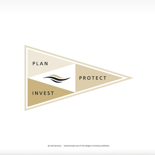Flag concept for Financial Firm