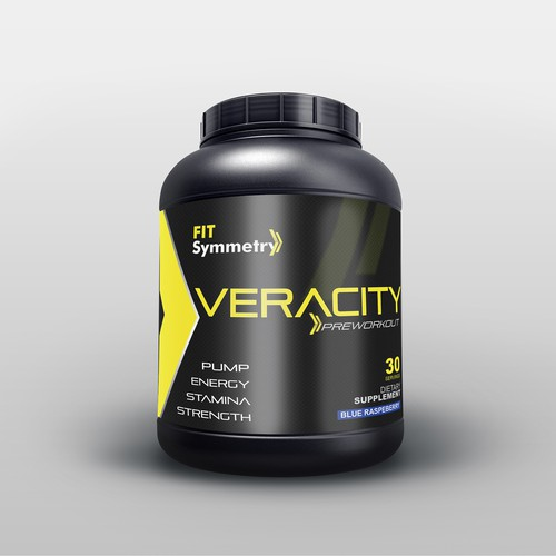 Supplement bottle label design