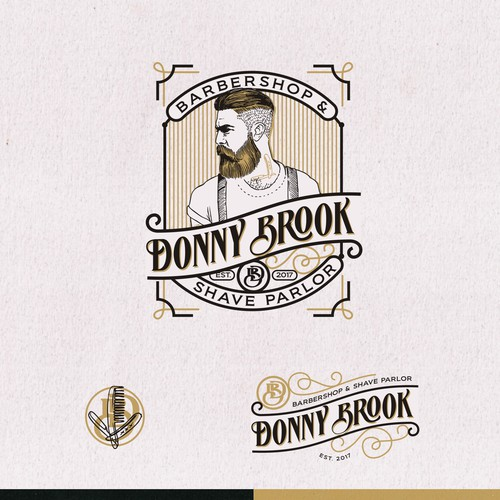logo for DONNY BROOK Barbershop